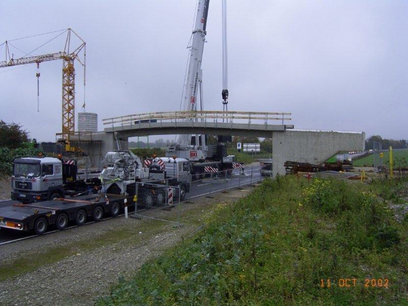 Neubau Geh- und Radwegbrücke über Südumgehung Gernlinden