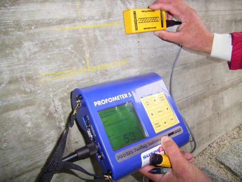 Messung der Betondeckung mittels Profometer