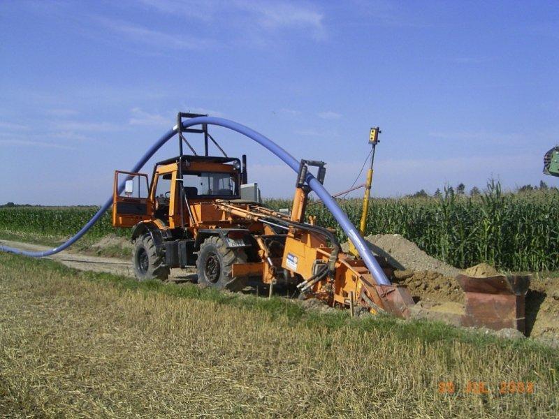 Neubau Wasserleitungsverbund Moorenweis-Eismerszell, Fräsverfahren