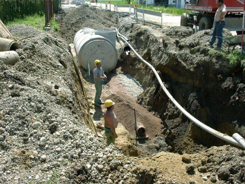 Neubau Schmutz- und Regenwasserkanal in Moorenweis